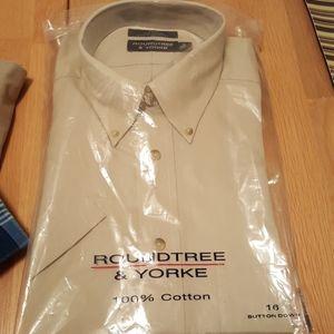 NEW! Button down Short Sleeve Shirt Cotton